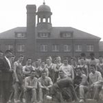 Sprinter Arthur Allen and the Rangers varsity track and field team. The Last Roundup 1959.