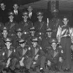 Members of the Jesuit Marching Band, Charles standing far right. The Last Roundup 1958.