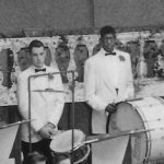 Charles in the percussion section of the Spring Concert Band 1958. The Last Roundup 1958.