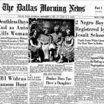 The September 3, 1955, edition of The Dallas Morning News places the Jesuit integration story prominently above the fold.