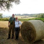 With wife in Italy