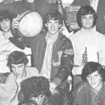 In this photograph of the National Honor Society, Walsh carries the world upon his shoulder.