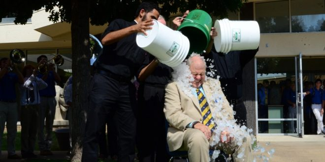 Earsing Completes Ice Bucket Challenge, Inspired by Father Fitzgerald, S.J.