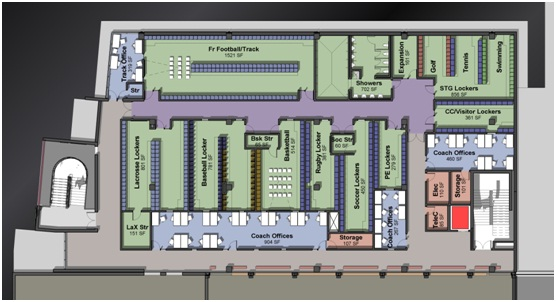High School Locker Room Floor Plans