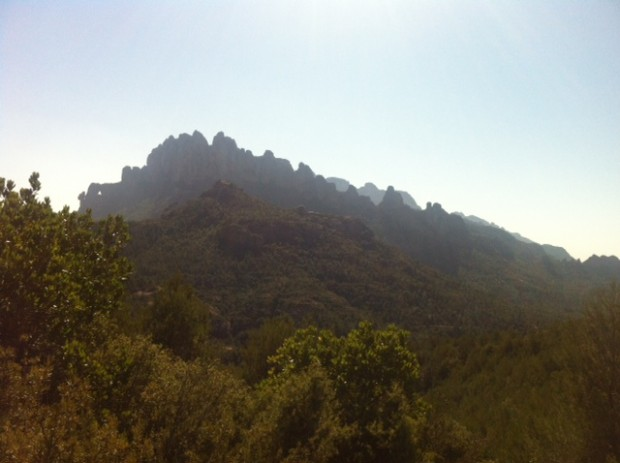 The view hiking this morning as we ascended Montserrat: a literally serrated mountain. (Photo courtesy of Mr. Stephen Pitts, SJ)