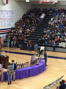 Awards being presented at Atascocita.